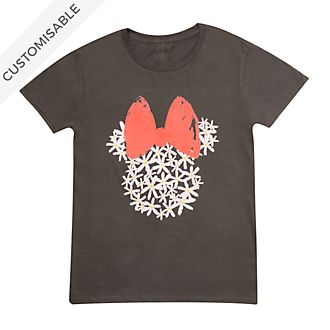 Minnie Mouse Floral Customisable T-Shirt For Adults