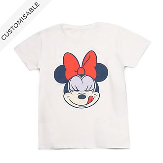 Minnie Mouse Face Customisable T-Shirt For Adults