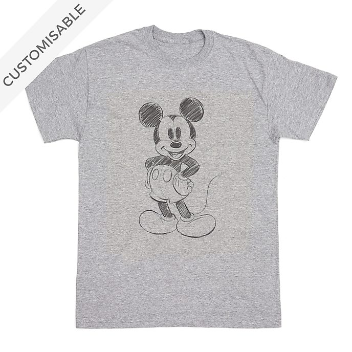 Mickey Mouse Sketch Customisable T-Shirt For Adults