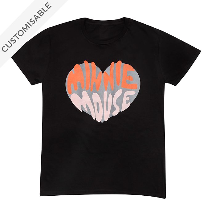 Minnie Mouse Heart Customisable T-Shirt For Adults