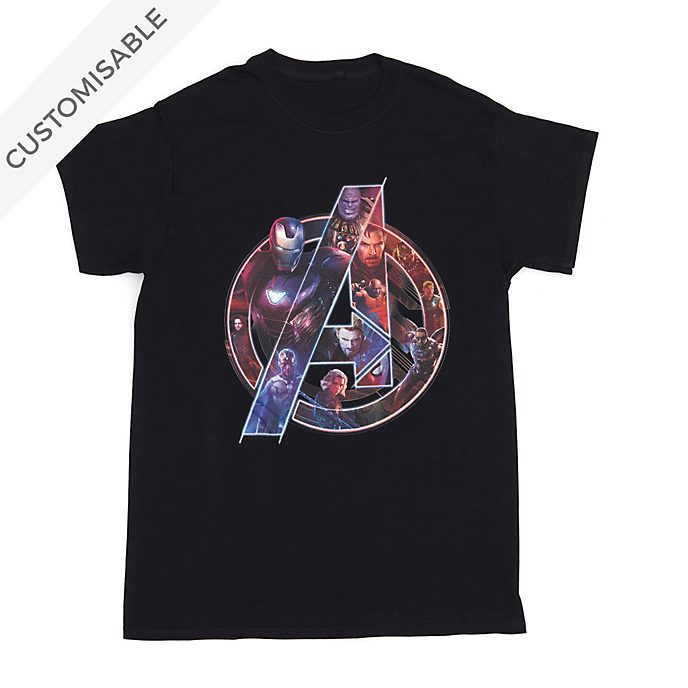 Avengers Character Logo Customisable T-Shirt For Adults