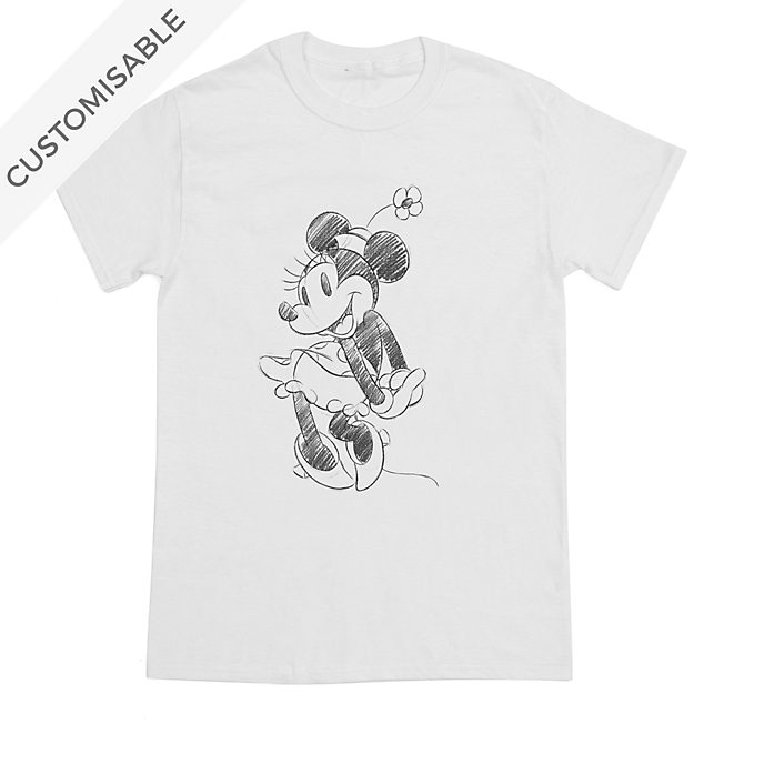 Minnie Mouse Sketch Customisable T-Shirt For Adults