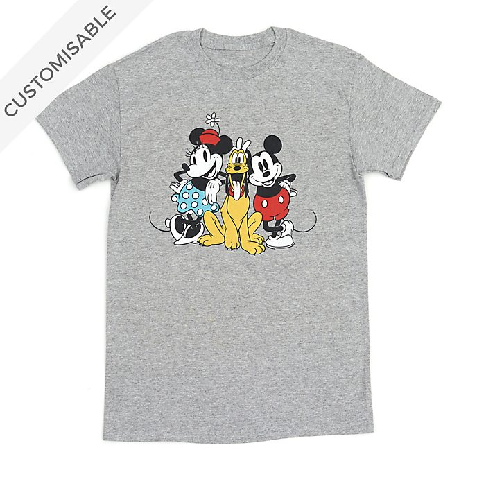 Mickey, Minnie and Pluto Customisable T-Shirt For Adults