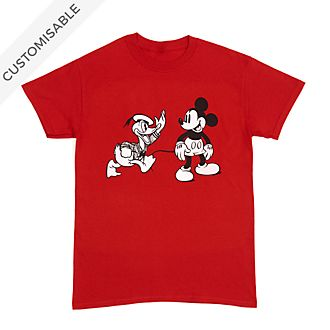 Mickey and Donald Customisable T-Shirt For Adults