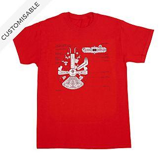 Star Wars Millennium Falcon Customisable T-Shirt For Kids