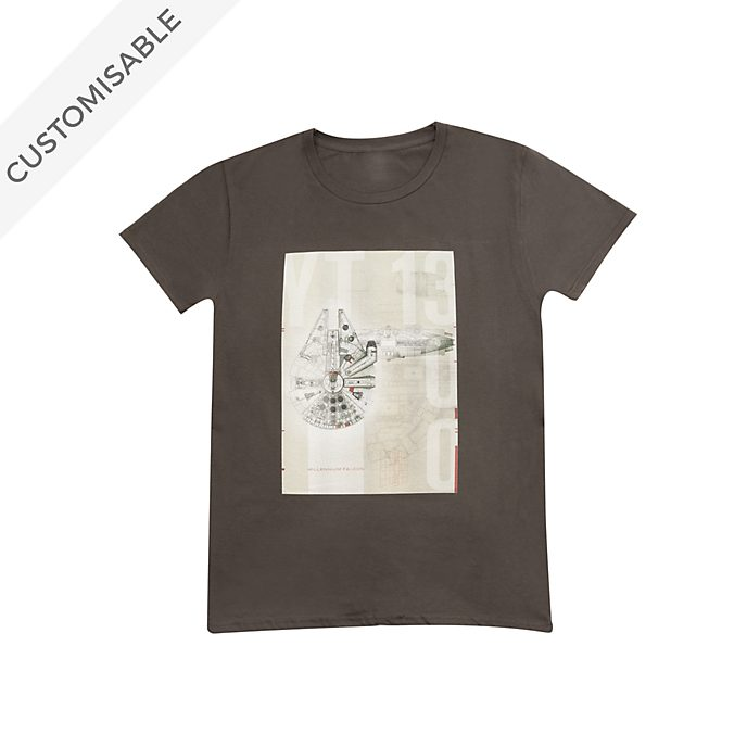 Star Wars Millennium Falcon Sketch Customisable T-Shirt For Kids