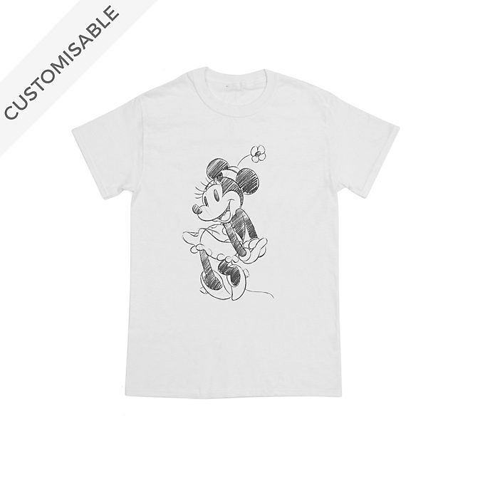 Minnie Mouse Sketch Customisable T-Shirt For Kids