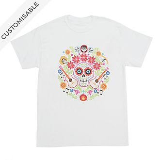 Disney Pixar Coco Floral Customisable T-Shirt For Adults