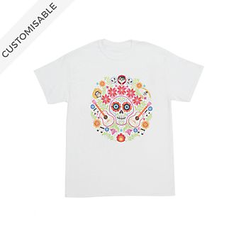 Disney Pixar Coco Floral Customisable T-Shirt For Kids