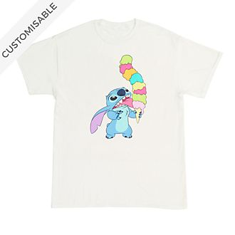 Stitch Ice Cream Customisable T-Shirt For Adults