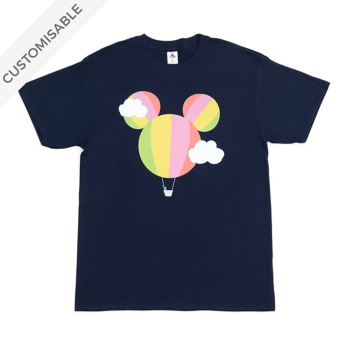 Mickey Mouse Hot Air Balloon Customisable T-Shirt For Adults