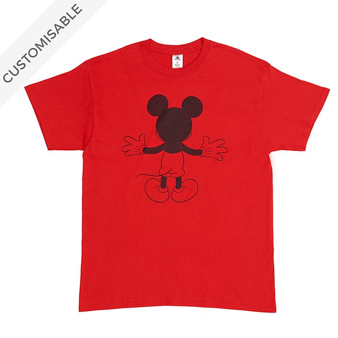 Mickey Mouse Back Customisable T-Shirt For Adults