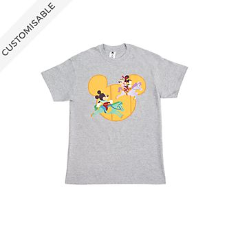 Mickey and Minnie Fairground Customisable T-Shirt For Kids