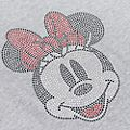 Minnie Mouse Rhinestones Customisable T-Shirt For Adults