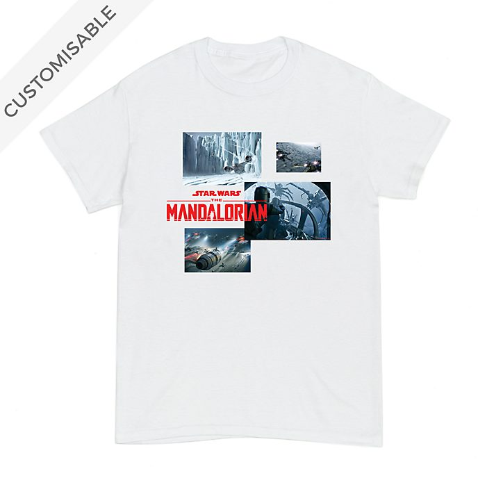 Star Wars: The Mandalorian Bold Scenes Customisable T-Shirt For Adults