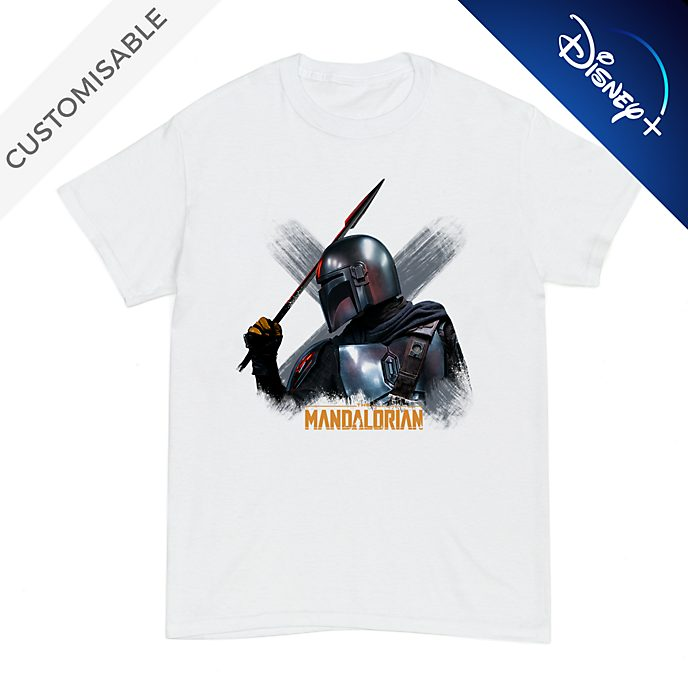 The Mandalorian with Beskar Spear Customisable T-Shirt For Adults, Star Wars
