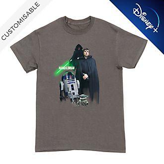 Luke Skywalker, R2-D2 and Grogu Customisable T-Shirt For Adults, Star Wars