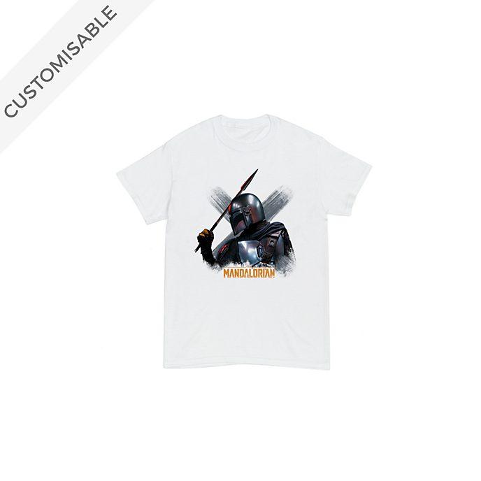 The Mandalorian with Beskar Spear Customisable T-Shirt For Kids, Star Wars