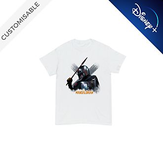 The Mandalorian with Beskar Spear Customisable T-Shirt For Kids, Star Wars