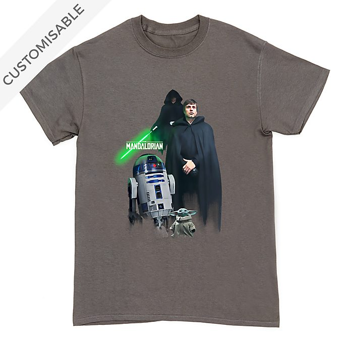Luke Skywalker, R2-D2 and Grogu Customisable T-Shirt For Kids, Star Wars