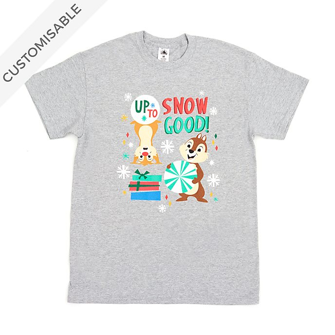 Chip 'n' Dale Up to Snow Good Customisable T-Shirt For Adults