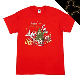 Mickey and Friends Christmas Customisable T-Shirt For Adults
