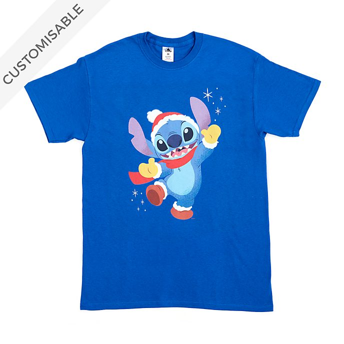 Stitch Festive Customisable T-Shirt For Adults