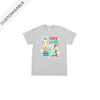 Chip 'n' Dale Up to Snow Good Customisable T-Shirt For Kids