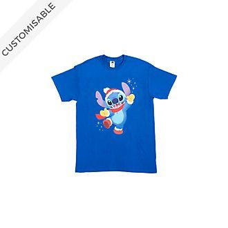 Stitch Festive Customisable T-Shirt For Kids