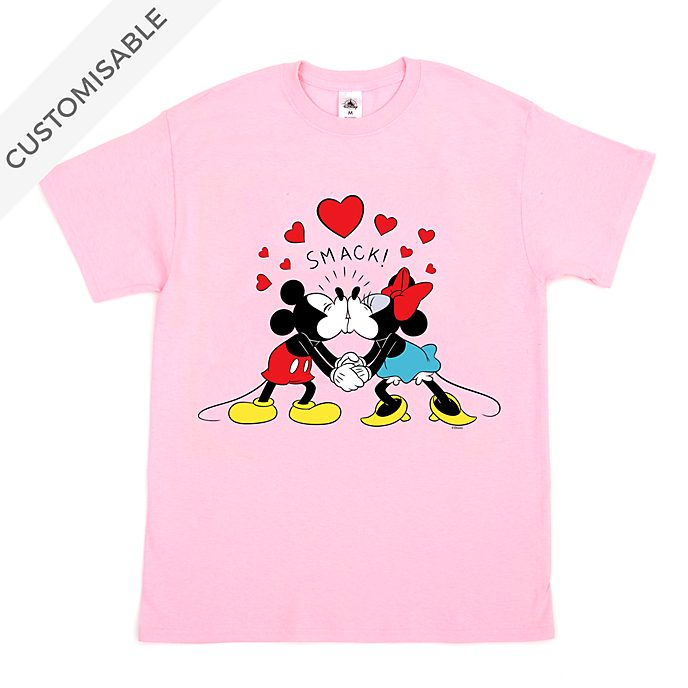 Mickey and Minnie Kiss Customisable T-Shirt For Adults