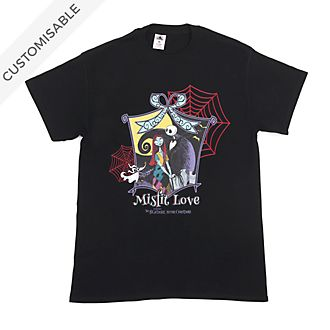 Jack Skellington and Sally Misfit Love Customisable T-Shirt For Adults