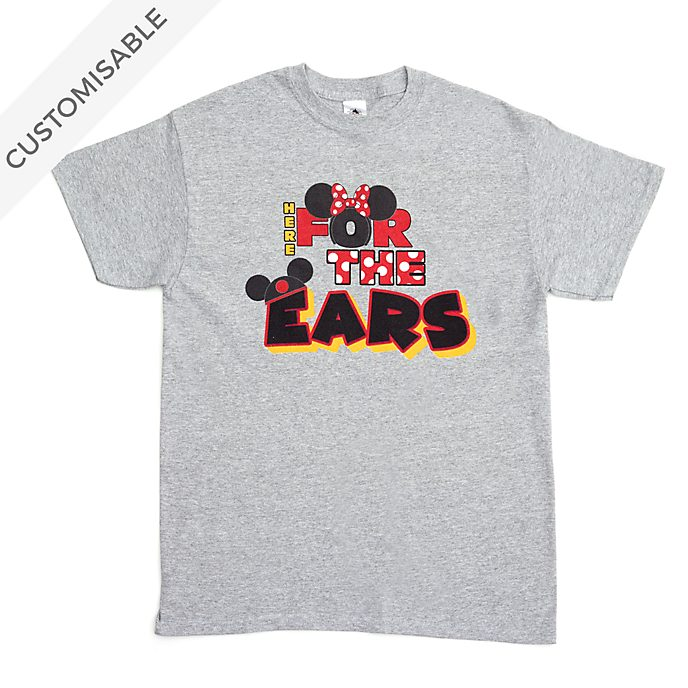Mickey and Minnie Ears Customisable T-Shirt For Adults