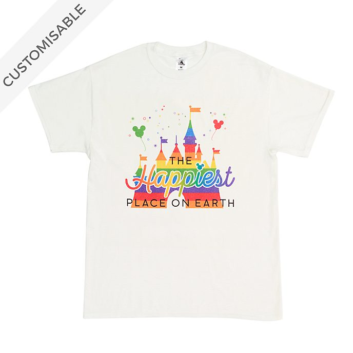 Fantasyland Castle Rainbow Customisable T-Shirt For Adults