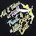 Tinker Bell Faith, Trust and Pixie Dust Customisable T-Shirt For Adults