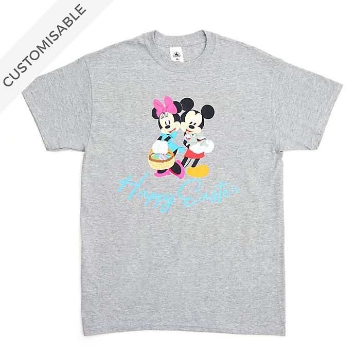 Mickey and Minnie Happy Easter Customisable T-Shirt For Adults