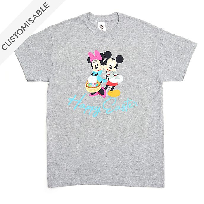 Mickey and Minnie Happy Easter Customisable T-Shirt For Kids