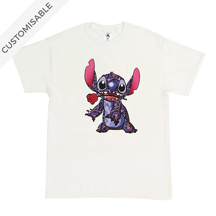 Beauty and the Beast Stitch Crashes Disney Customisable T-Shirt For Adults, 1 of 12
