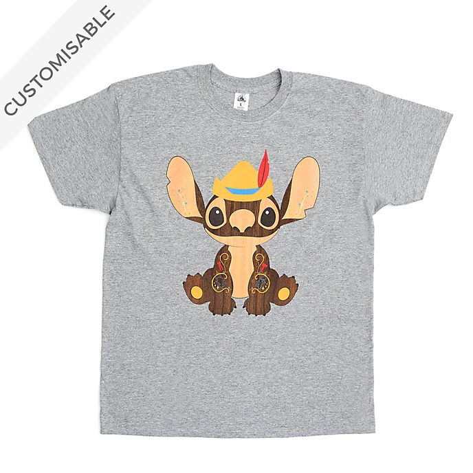 Pinocchio Stitch Crashes Disney Customisable T-Shirt For Adults, 5 of 12
