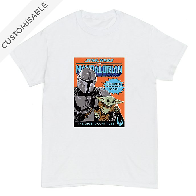 Star Wars: The Mandalorian Comic Cover Customisable T-Shirt For Kids