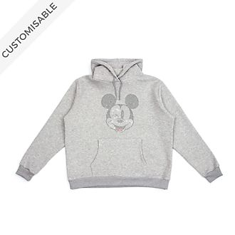 Mickey Mouse Rhinestones Customisable Hooded Sweatshirt For Adults