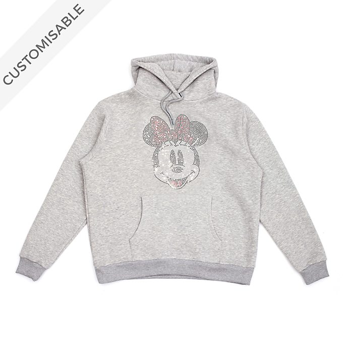 Minnie Mouse Rhinestones Customisable Hooded Sweatshirt For Adults