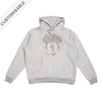 Minnie Mouse Rhinestones Customisable Hooded Sweatshirt For Adults