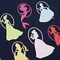 Disney Princess Colourful Silhouettes Customisable T-Shirt For Kids
