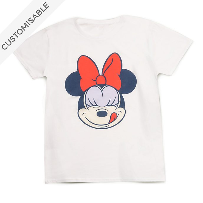 Minnie Mouse Face Customisable T-Shirt For Kids