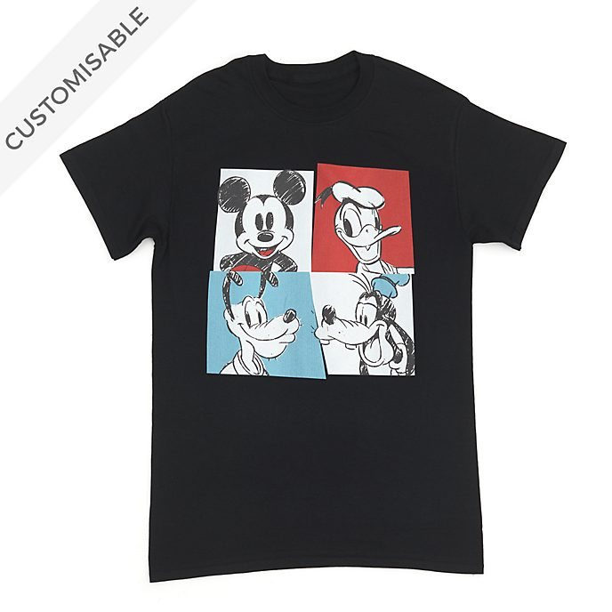 Mickey and Friends Sketch Customisable T-Shirt For Adults