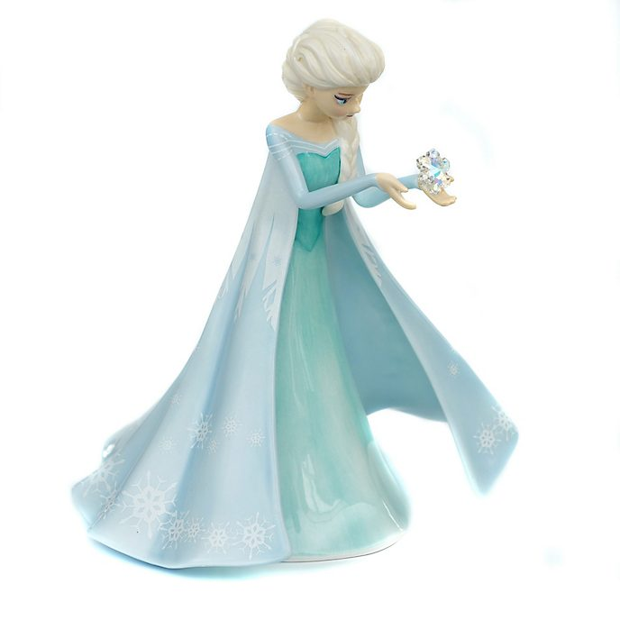 English Ladies Co. Figurine Elsa en porcelaine fine, La Reine des Neiges
