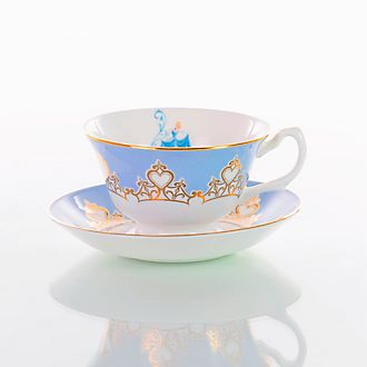 English Ladies Co. - Cinderella - Teetasse und Untertasse aus Porzellan