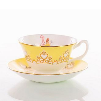Taza té y platito porcelana fina ceniza hueso Bella English Ladies Co.