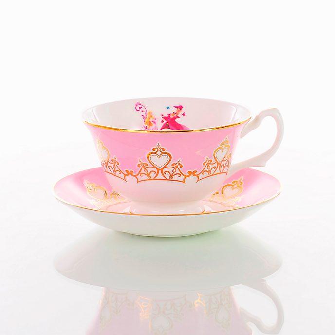 English Ladies Co. set taza de té y platito porcelana de ceniza de hueso La bella durmiente