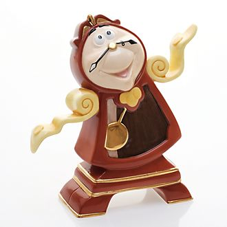 English Ladies Co. Cogsworth Figure, Beauty and the Beast